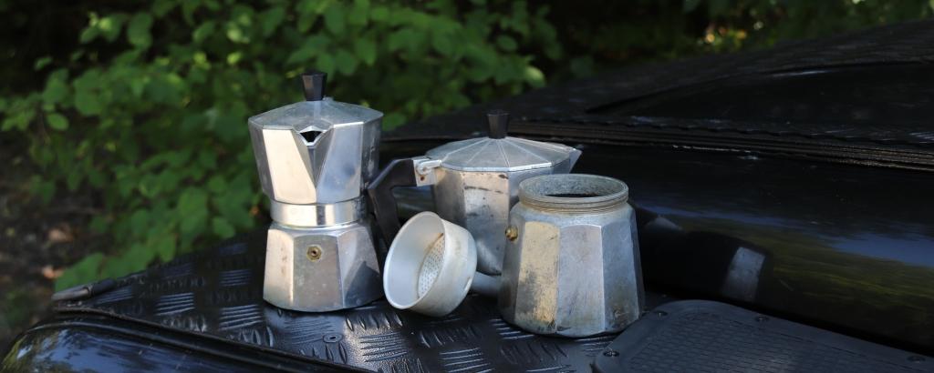 Kaffeekochen auf Reisen